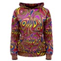 Abstract Shimmering Multicolor Swirly Women s Pullover Hoodie View1