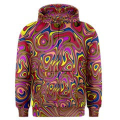 Abstract Shimmering Multicolor Swirly Men s Zipper Hoodie