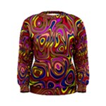 Abstract Shimmering Multicolor Swirly Women s Sweatshirt