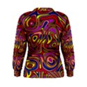 Abstract Shimmering Multicolor Swirly Women s Sweatshirt View2
