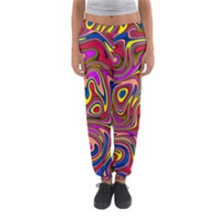 Abstract Shimmering Multicolor Swirly Women s Jogger Sweatpants
