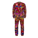 Abstract Shimmering Multicolor Swirly OnePiece Jumpsuit (Kids)