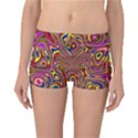 Abstract Shimmering Multicolor Swirly Reversible Boyleg Bikini Bottoms View1