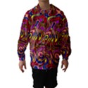 Abstract Shimmering Multicolor Swirly Hooded Wind Breaker (Kids) View1