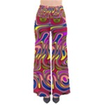 Abstract Shimmering Multicolor Swirly Pants