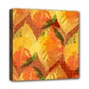 Fall Colors Leaves Pattern Mini Canvas 8  x 8  View1