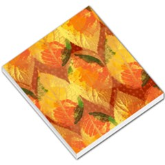 Fall Colors Leaves Pattern Small Memo Pads by DanaeStudio