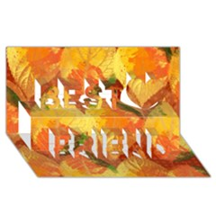 Fall Colors Leaves Pattern Best Friends 3d Greeting Card (8x4) by DanaeStudio
