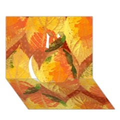 Fall Colors Leaves Pattern Apple 3d Greeting Card (7x5) by DanaeStudio