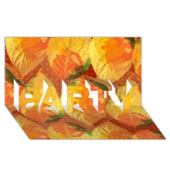 Fall Colors Leaves Pattern Party 3d Greeting Card (8x4) by DanaeStudio