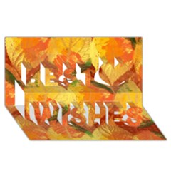 Fall Colors Leaves Pattern Best Wish 3d Greeting Card (8x4) by DanaeStudio