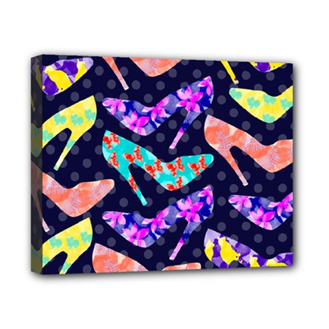 Colorful High Heels Pattern Canvas 10  X 8