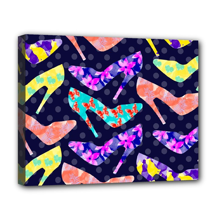 Colorful High Heels Pattern Deluxe Canvas 20  x 16