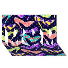 Colorful High Heels Pattern Mom 3d Greeting Card (8x4) by DanaeStudio