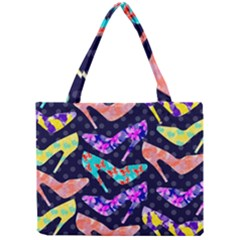 Colorful High Heels Pattern Mini Tote Bag by DanaeStudio