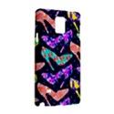 Colorful High Heels Pattern Samsung Galaxy Note 4 Hardshell Case View3