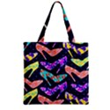 Colorful High Heels Pattern Zipper Grocery Tote Bag View1