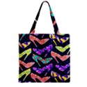 Colorful High Heels Pattern Zipper Grocery Tote Bag View2