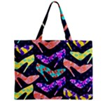 Colorful High Heels Pattern Zipper Mini Tote Bag