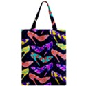 Colorful High Heels Pattern Zipper Classic Tote Bag View1