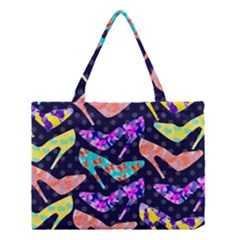 Colorful High Heels Pattern Medium Tote Bag by DanaeStudio