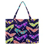 Colorful High Heels Pattern Medium Zipper Tote Bag