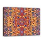 Oriental Watercolor Ornaments Kaleidoscope Mosaic Canvas 16  x 12