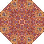 Oriental Watercolor Ornaments Kaleidoscope Mosaic Hook Handle Umbrellas (Small)