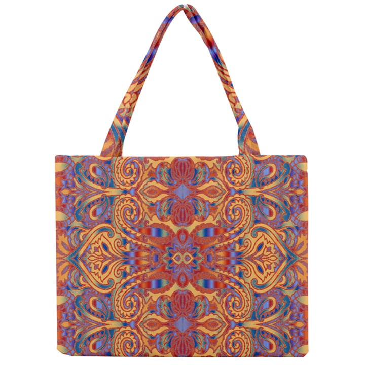 Oriental Watercolor Ornaments Kaleidoscope Mosaic Mini Tote Bag
