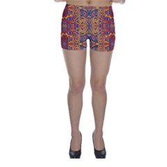 Oriental Watercolor Ornaments Kaleidoscope Mosaic Skinny Shorts