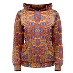 Oriental Watercolor Ornaments Kaleidoscope Mosaic Women s Pullover Hoodie