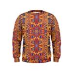 Oriental Watercolor Ornaments Kaleidoscope Mosaic Kids  Sweatshirt