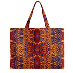 Oriental Watercolor Ornaments Kaleidoscope Mosaic Zipper Mini Tote Bag