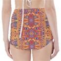 Oriental Watercolor Ornaments Kaleidoscope Mosaic High-Waisted Bikini Bottoms View2