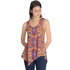 Oriental Watercolor Ornaments Kaleidoscope Mosaic Sleeveless Tunic by EDDArt