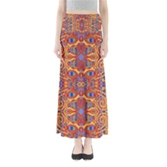 Oriental Watercolor Ornaments Kaleidoscope Mosaic Maxi Skirts by EDDArt