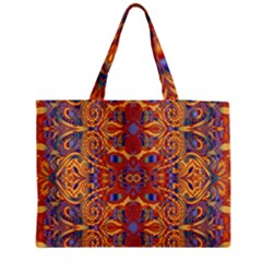 Oriental Watercolor Ornaments Kaleidoscope Mosaic Medium Tote Bag by EDDArt