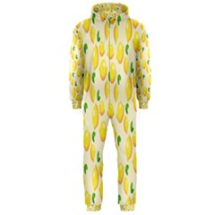 Pattern Template Lemons Yellow Hooded Jumpsuit (Men)  by Zeze