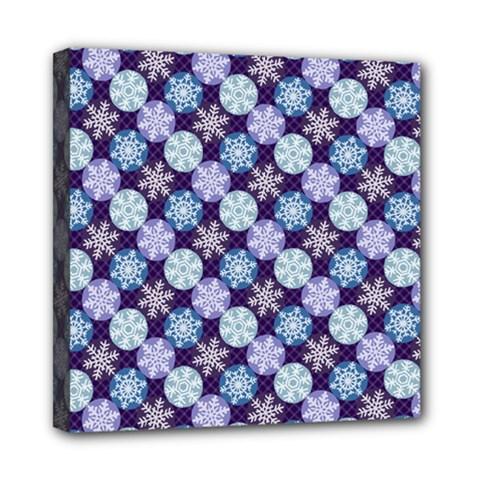Snowflakes Pattern Mini Canvas 8  X 8