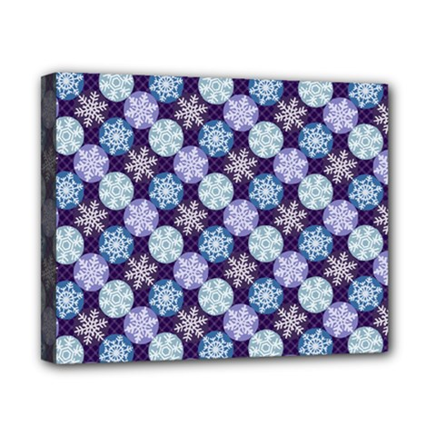 Snowflakes Pattern Canvas 10  X 8  by DanaeStudio