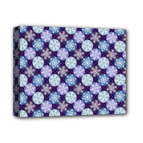 Snowflakes Pattern Deluxe Canvas 14  X 11  by DanaeStudio