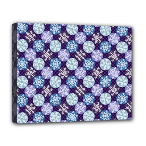 Snowflakes Pattern Deluxe Canvas 20  X 16   by DanaeStudio