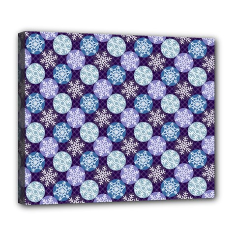 Snowflakes Pattern Deluxe Canvas 24  X 20