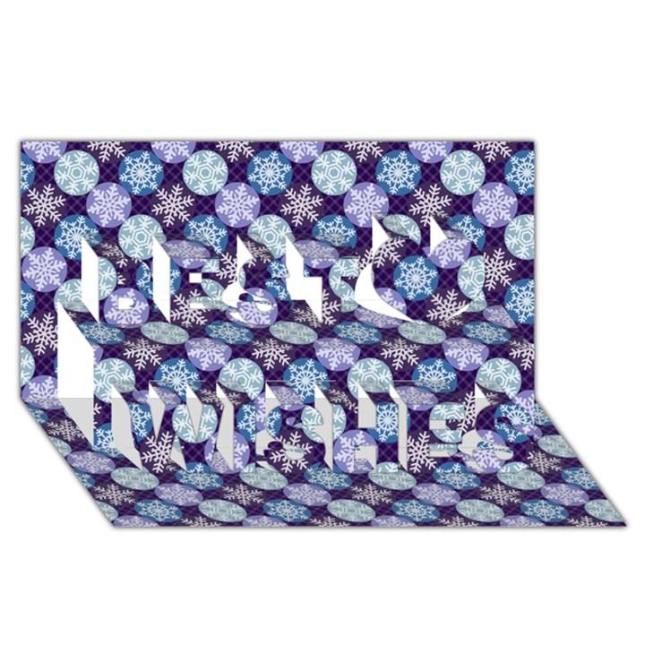 Snowflakes Pattern Best Wish 3D Greeting Card (8x4)