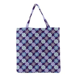 Snowflakes Pattern Grocery Tote Bag by DanaeStudio