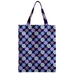 Snowflakes Pattern Zipper Classic Tote Bag by DanaeStudio