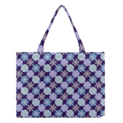 Snowflakes Pattern Medium Tote Bag by DanaeStudio