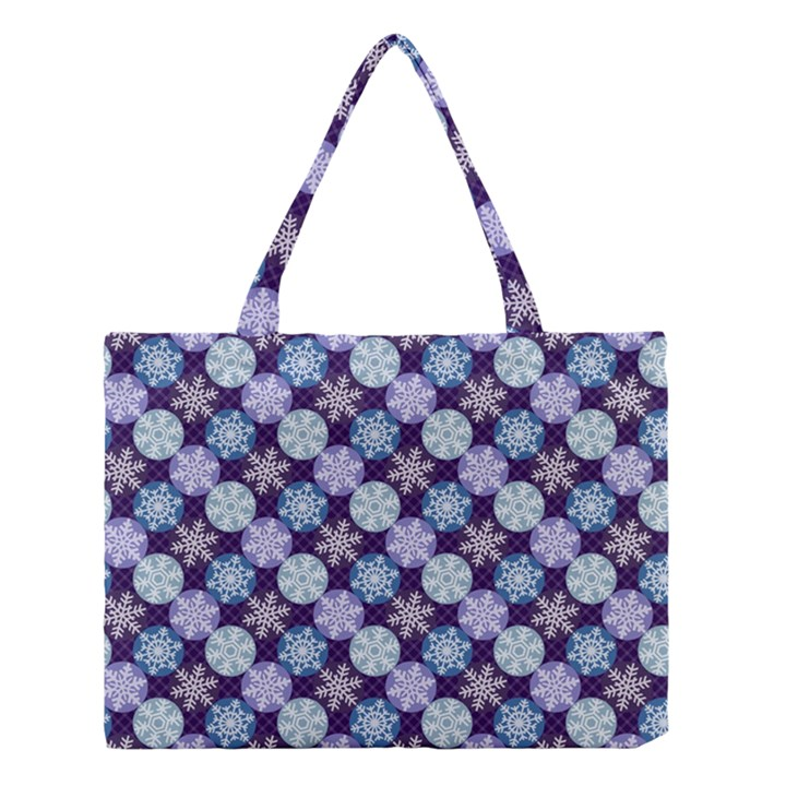 Snowflakes Pattern Medium Tote Bag