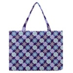 Snowflakes Pattern Medium Zipper Tote Bag