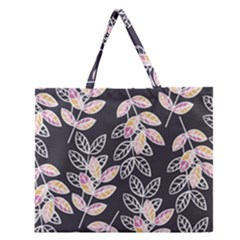 Winter Beautiful Foliage  Zipper Large Tote Bag by DanaeStudio